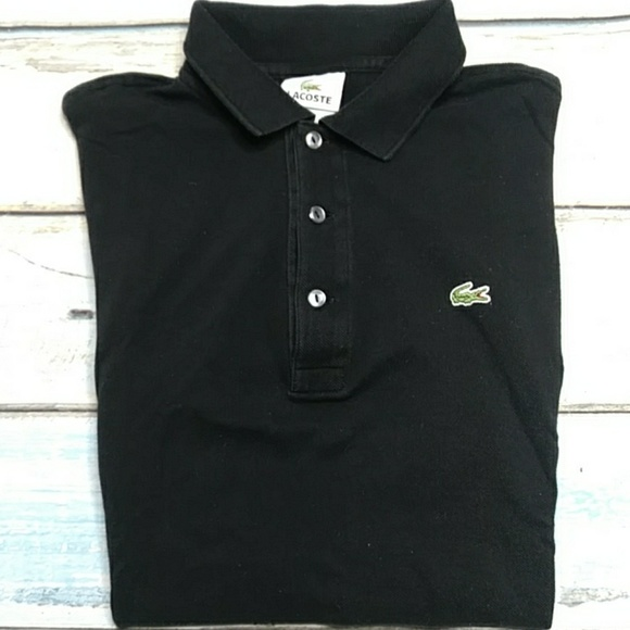 beae475c Lacoste Black Polo Shirt
